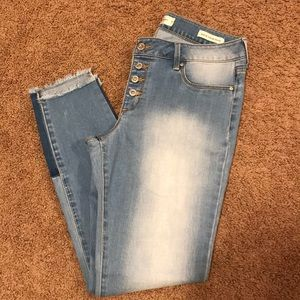 Jessica Simpson vintage skinny two toned jeans